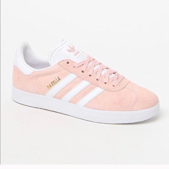 Baby Pink Adidas Gazelle Shoe